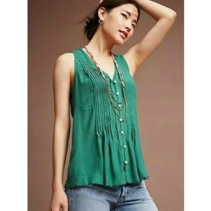 Maeve teal sleeveless top